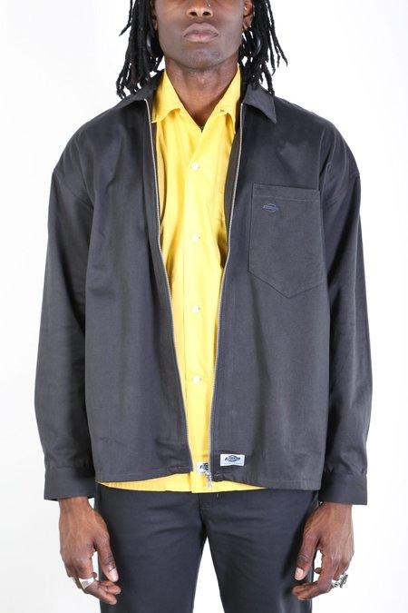 Dickies Construct Oversized Zip Work Shirt - Almost Black