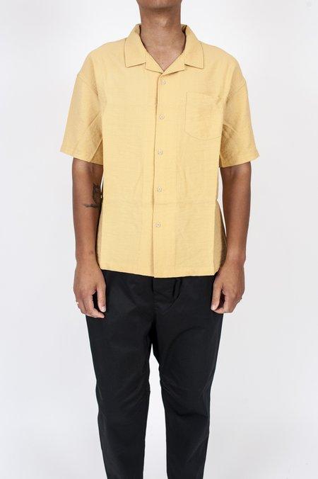 Four Horsemen Crêpe Camp Shirt - Yellow Ochre