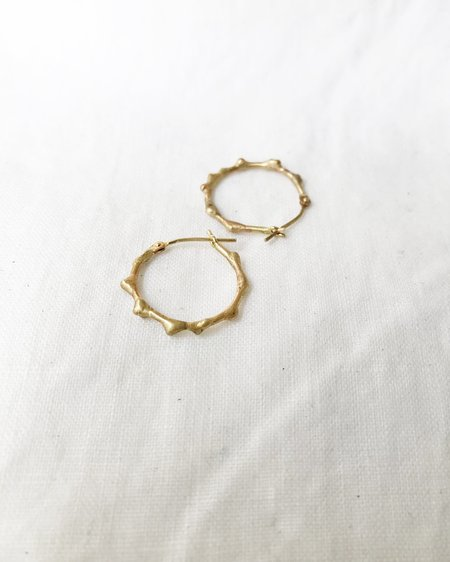 variance EMBEDDED GOLD hoop earrings