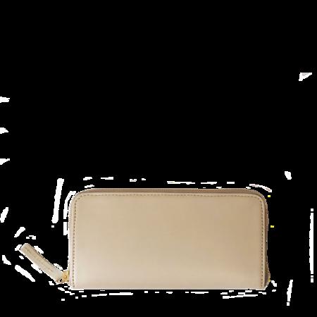 Ceri Hoover Large Zip Wallet - Cream