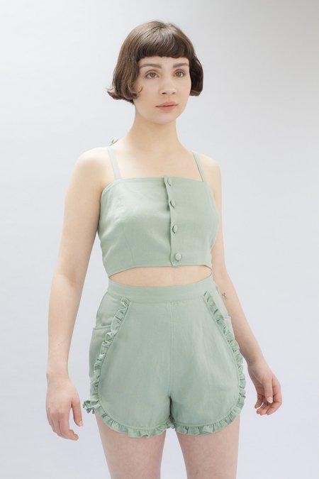 Samantha Pleet Floweret Shorts - Sage
