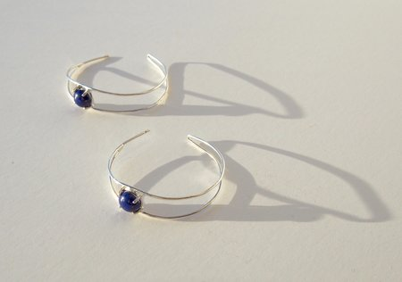 Octave Jewelry OPEN Hoop - Lapis