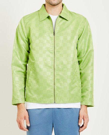 STUSSY INC. TONAL CHECK JACKET - green
