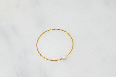 Eye M by Ileana Makri Pearl Bangle Bracelet