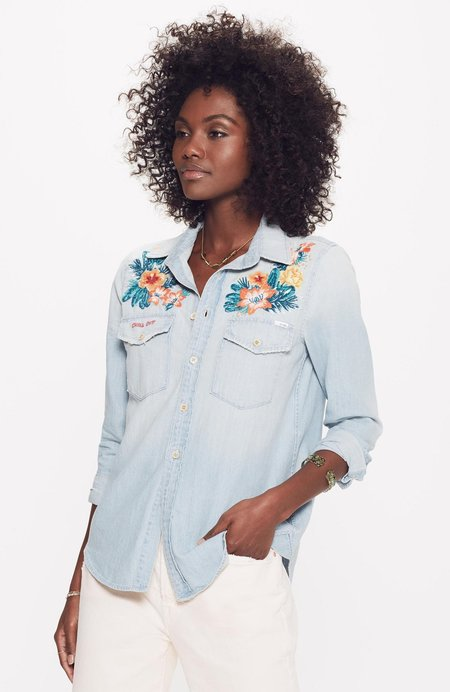 Mother Denim The Flap Double Foxy Shirt - Getting Lei'd