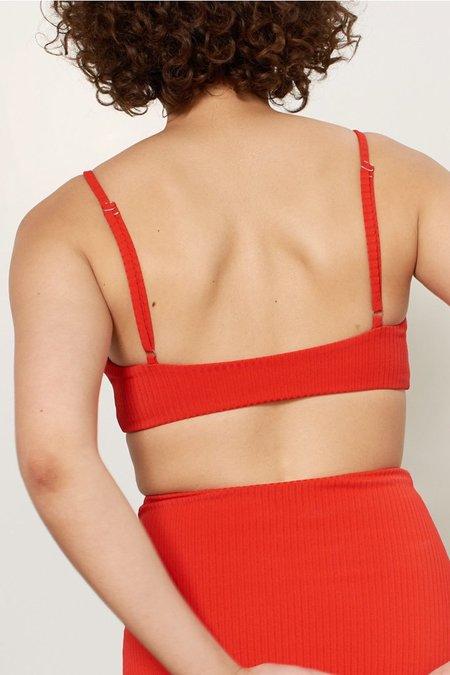 Mara Hoffman Sia Bikini Top - Red