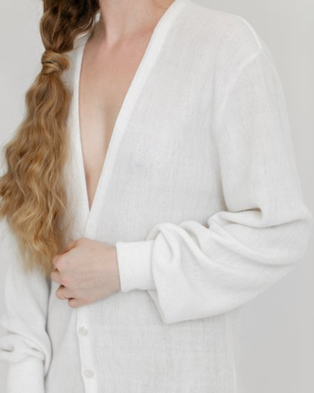 Kaleidos Vintage Christian Dior Cardigan - White