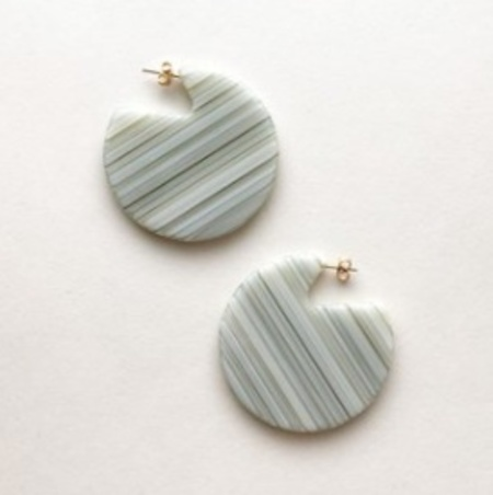 Machete Clare Earrings - Vert Stripe
