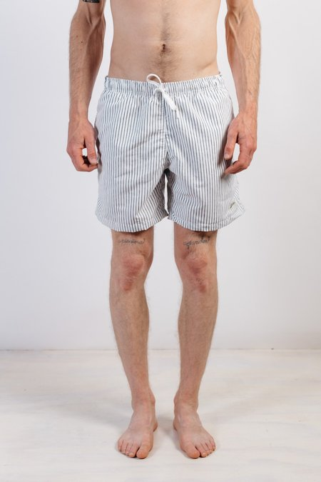 Bather Boardshorts Pinstripe Shorts - White
