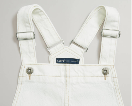 Levi's Made and Crafted Wide Leg Overalls - White