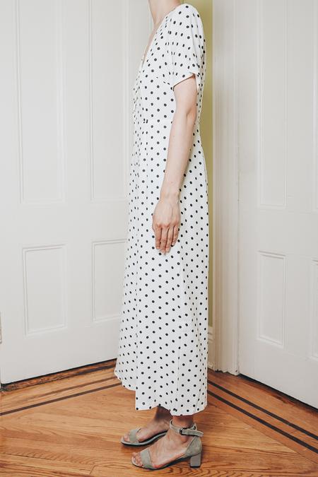 THXGIVING Small Polka Dot One Jumpsuit - White