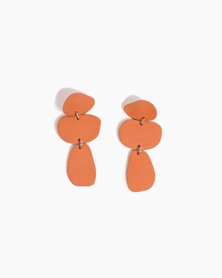 Four Eyes Ceramics Pebble Earrings