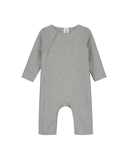 Kids Gray Label Baby Suit with Snaps - Grey Melange