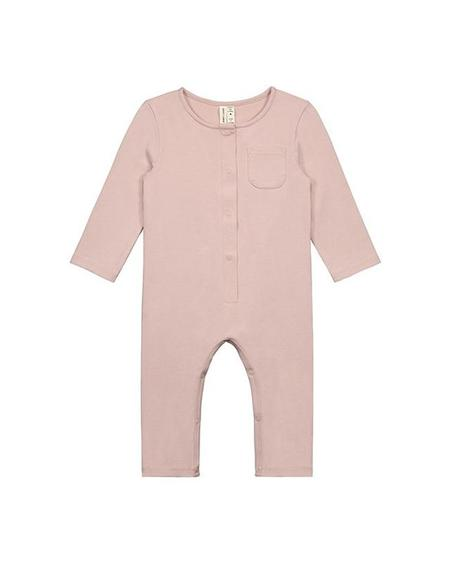 Kids Gray Label L/S Playsuit - Vintage Pink