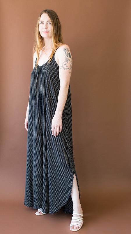 Just Female Hiro Maxi Dress - Black Polka Dot