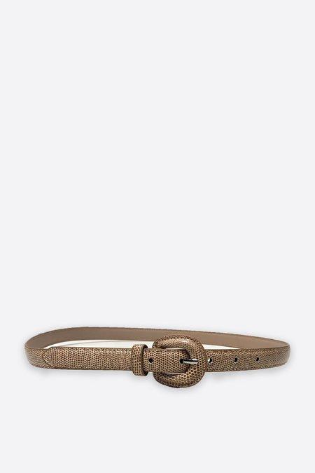 Assembly New York Leather Snakeskin Belt - Taupe