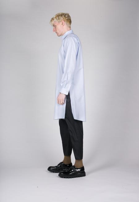 Christian Dada Striped Long Shirt - Blue Stripe