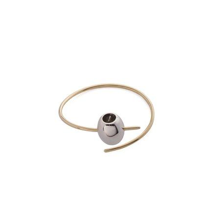 Schield Olive Bracelet - gold/palladium