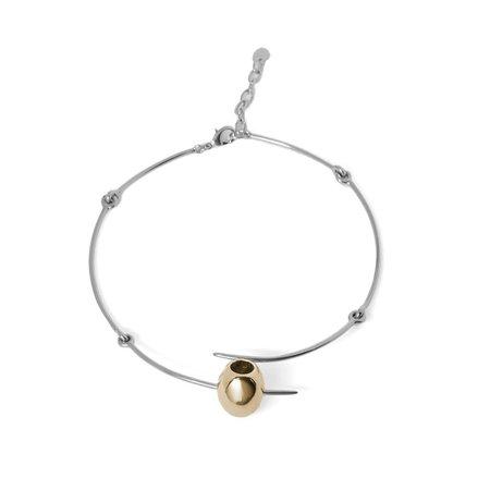 Schield Olive Necklace - gold/palladium