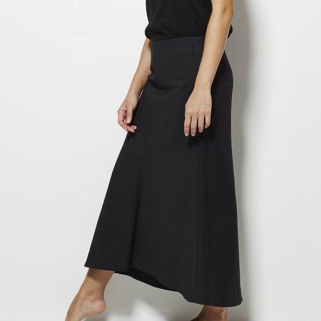 Tibi Agathe Midi Fluted Skirt - Black