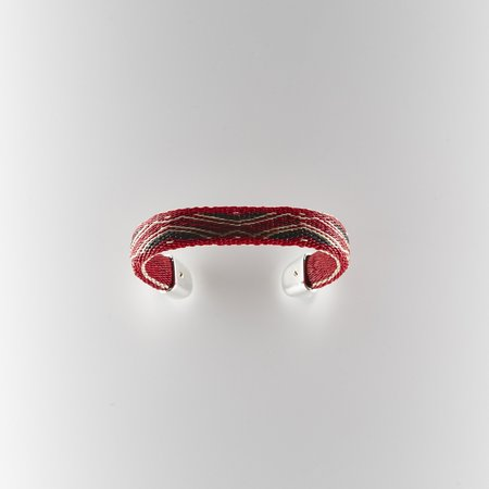 Chamula Bendable Cuff - Red/Black
