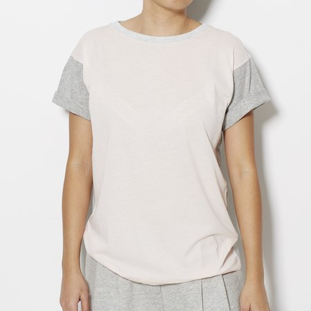 Demy Lee Colour Block Tee - Pink/Grey