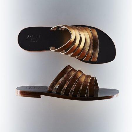 Capri Positano Lineal Slide Sandal - Bronze/Pewter