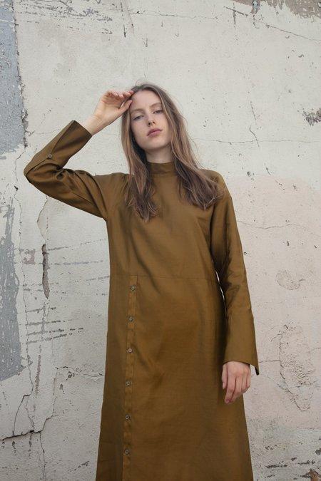 Tomorrowland High Neck Dress - Brown