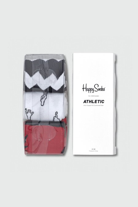 Unisex Happy Socks Athletic Gift Box - Black/Red/White