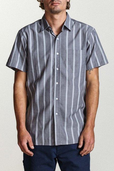 Brixton Decca Short Sleeve Woven Shirt - Charcoal/White