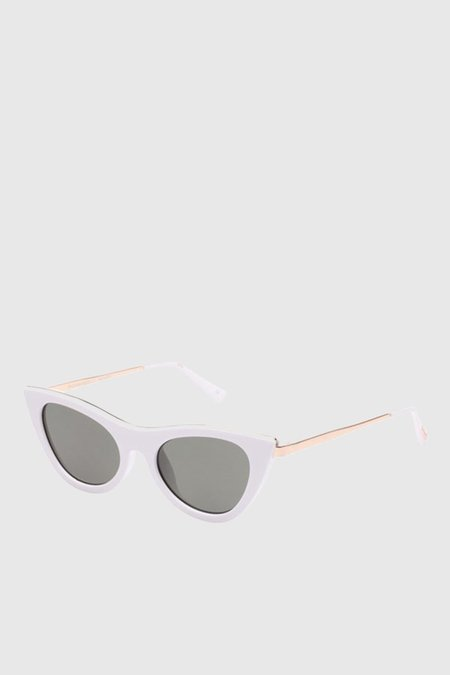Le Specs Enchantress - White/Khaki Mono