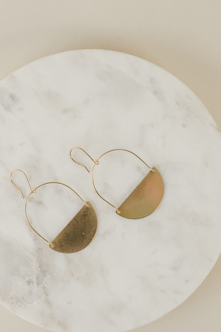 Pegs Hardware Orme Earrings - Brass