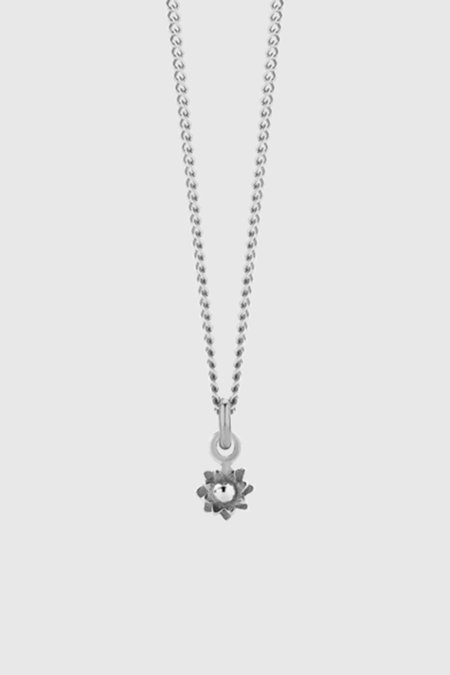Meadowlark Micro Protea Charm Necklace - Sterling Silver