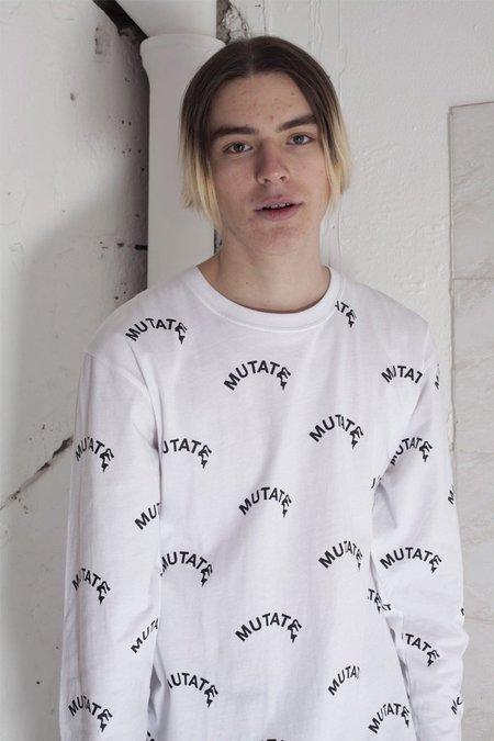 Perks & Mini Mutate Allover Long Sleeve T-Shirt - White