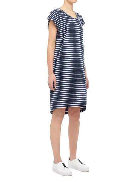 Nobody Denim Organic Drape Dress - Navy/White