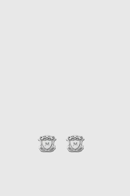 Meadowlark Shield Stud Earrings - Silver