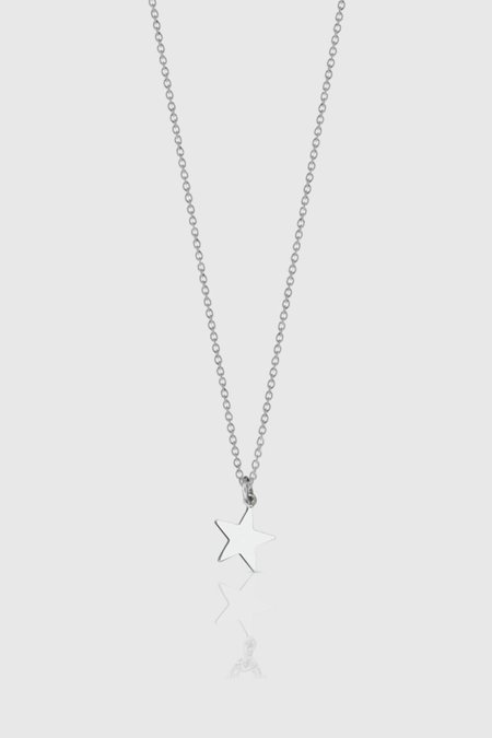 Meadowlark Star Charm Necklace - Sterling Silver