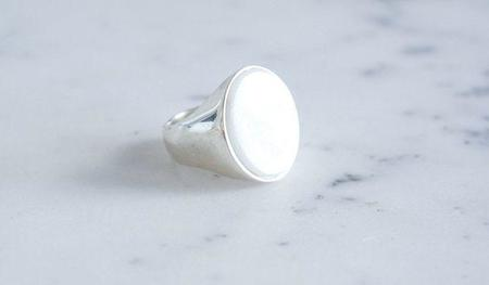 Gabriela Artigas Marble Signet Ring - SILVER