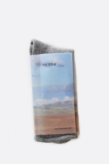 Unisex Oyuna Cashmere Socks -  Slate Grey