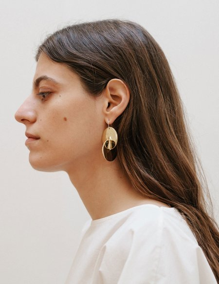 Erin Considine Luna Earrings - Brass