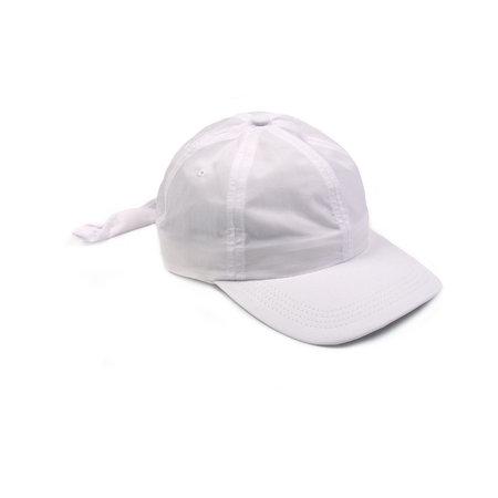 Clyde Tie Back Baseball Hat - White