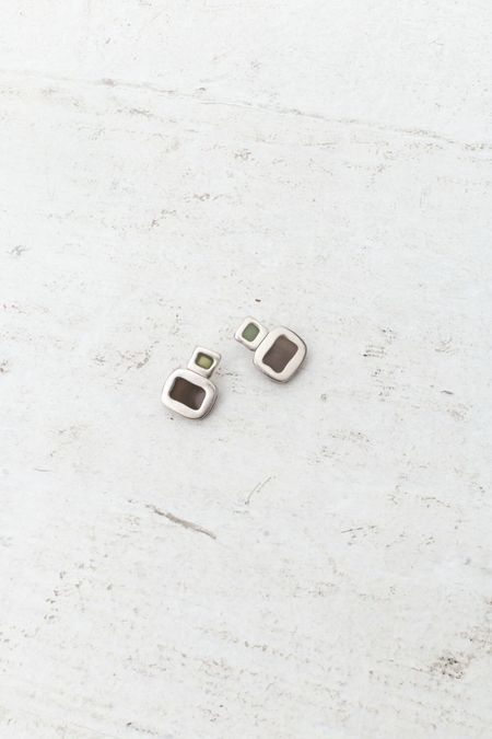 Vincetta Givenchy Double Drop Square Earrings