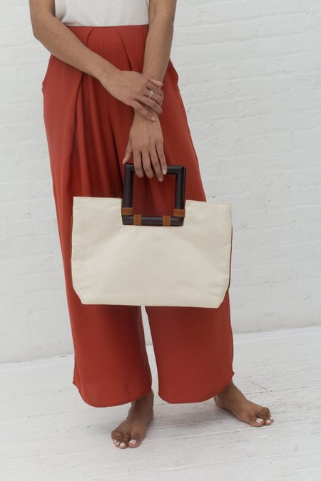 Vincetta Square Handle Silk Tote Bag