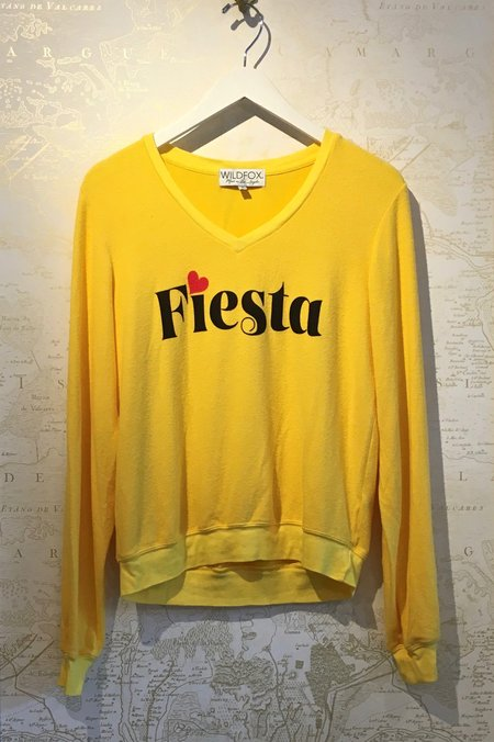 Wildfox Couture Fiesta Baggy Sweatshirt - Yellow