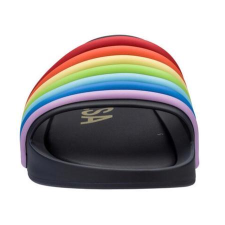 Melissa Beach Slide - Black 3D Rainbow