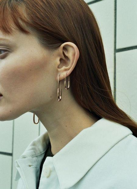 Maria Black Chance High Polished  Earring - Gold/Silver