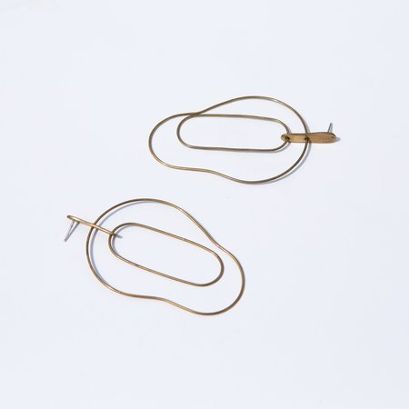Seaworthy Johnetta Earrings - Brass
