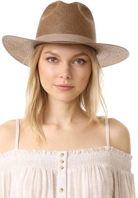 Janessa Leone Adriana Hat - brown