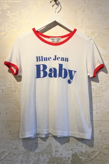 Wildfox Couture Blue Jean Baby Tee - White
