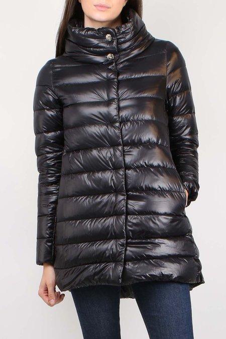 Herno Classic Nylon Hilo Coat - BLACK